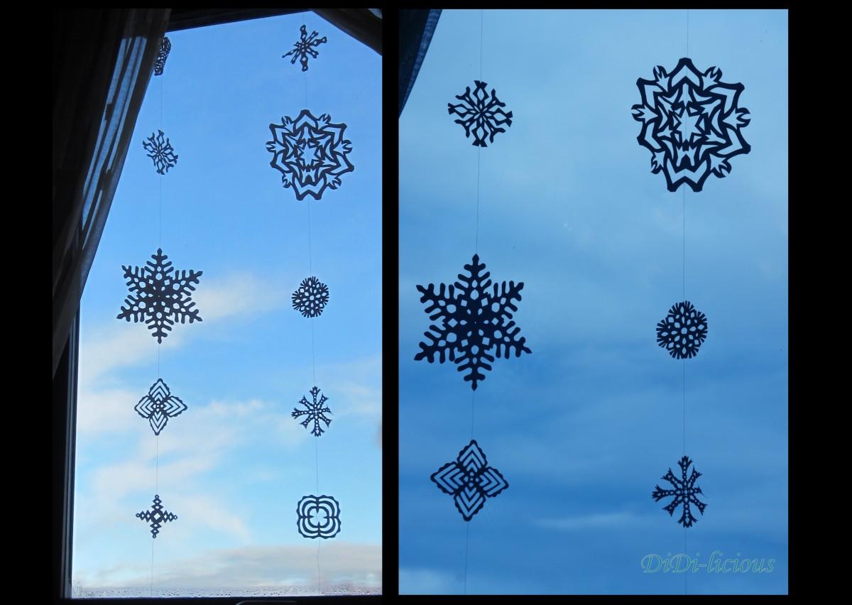 Снежна завеса за прозореца