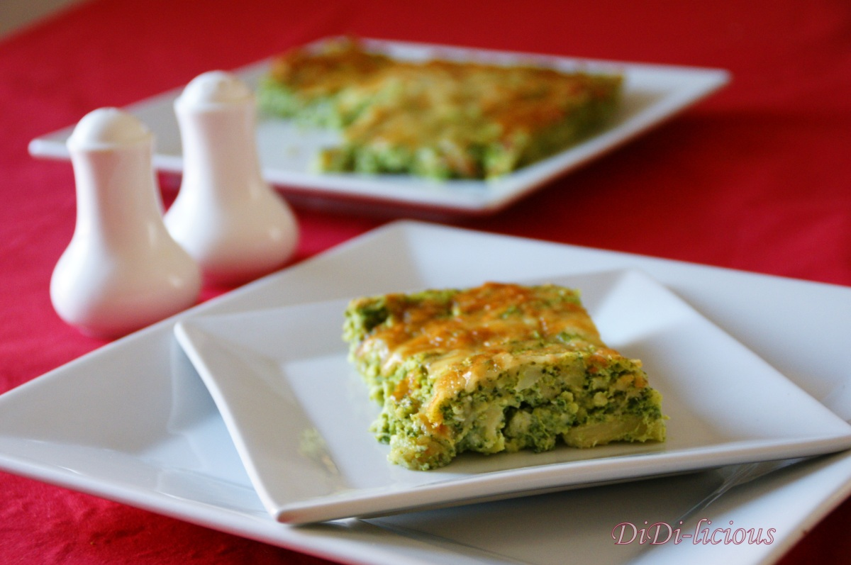 Броколи и кашкавал в суфле / Broccoli and cheese soufflé
