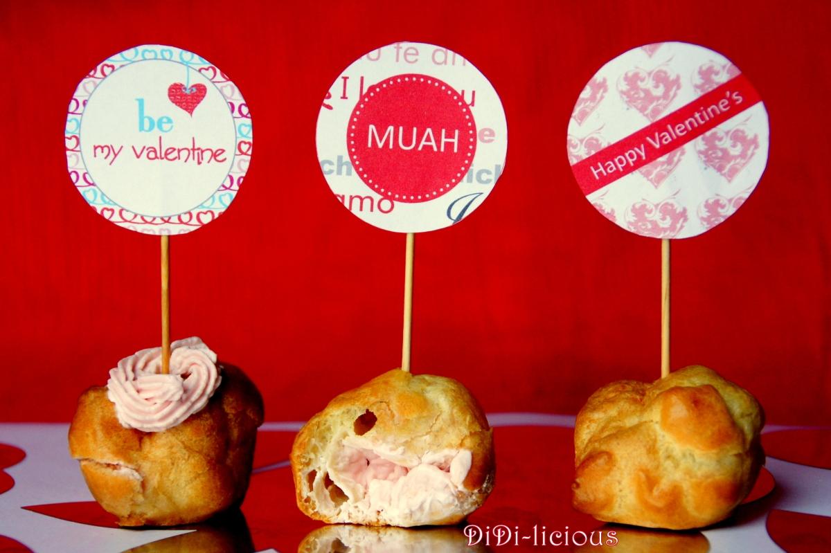 Валентинки: Солени мини еклери / Mini Puffs