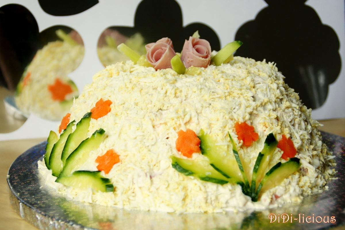 Солена торта: Въздушна салата / Salted Salad Cake