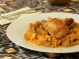 Пиле с ябълки и сладък картоф / Sweet potato, Apple and ChickenBake