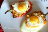 Запечени пълнени чушки с яйце / Baked rice-stuffedpeppers