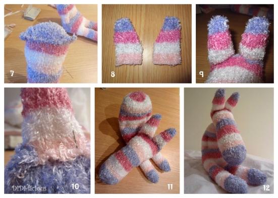 Sock Toy Zebra tutorial / Зебра играчка от чорап указания 2