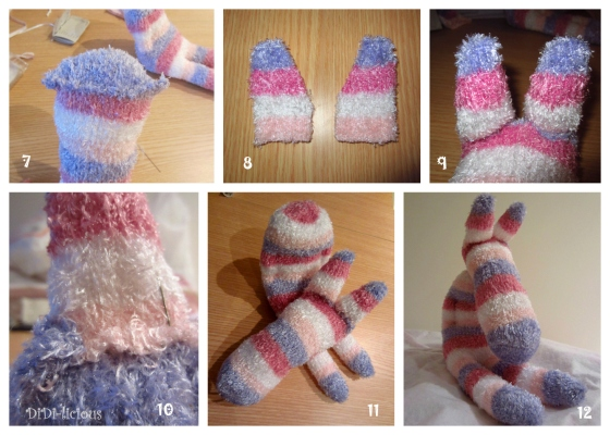 Sock Toy Zebra tutorial / Зебра играчка от чорап указания 2