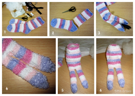 Sock Toy Zebra tutorial / Зебра играчка от чорап указания 1